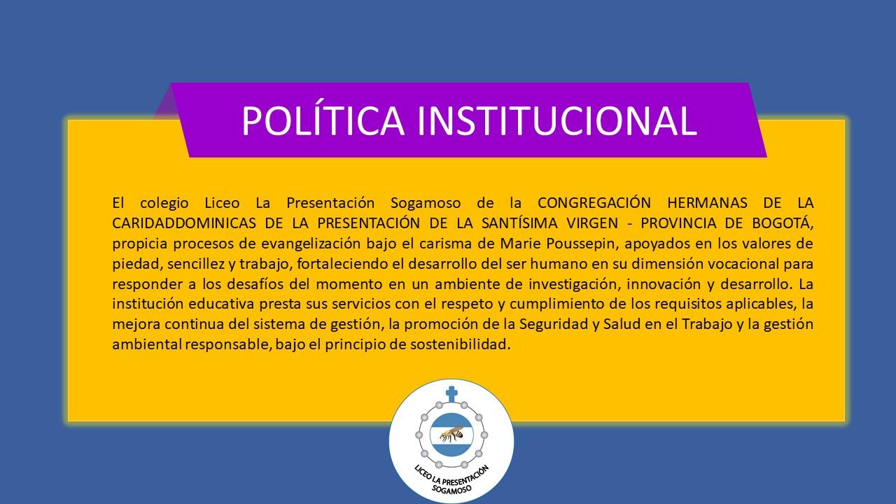 Politica institucional