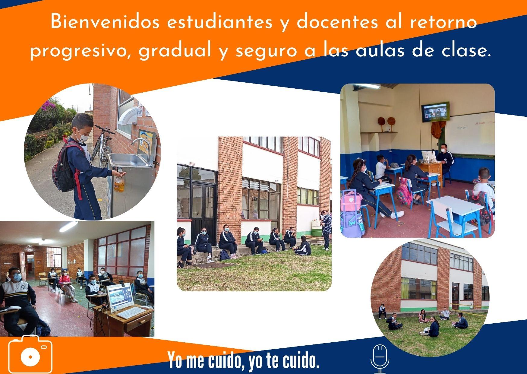Bienvenidos estudiantes y docentes al retorno progresivo, gradual y seguro a las aulas de clase (2)